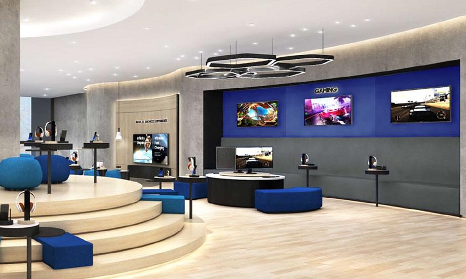 bright luxury samsung showroom
