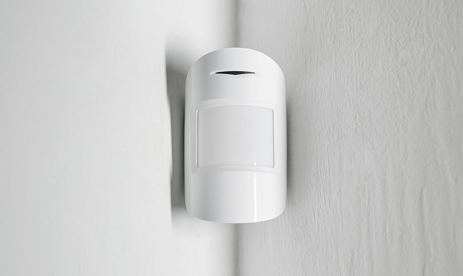 modern motion sensor on wall
