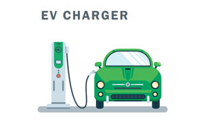 private electric charging station for electric car