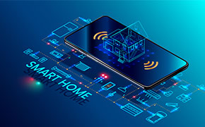 smart home controlled by smart phone.